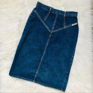 VINTAGE CHEROKEE Denim Skirt